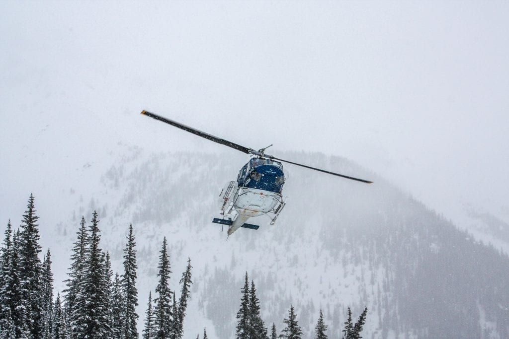 heli skiing in Panorama
